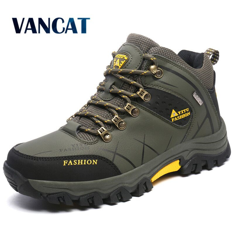 New Men Winter Snow Boots Super Warm Men's Boots High Quality Waterproof Sneakers Outdoor Male Hiking Boots Work Shoes Size 47