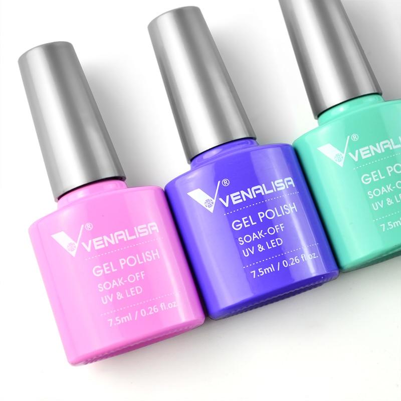 2020 new 60 fashion color Venalisa gel polish enamel vernish color gel polish for nail art design whole set nail gel learner kit