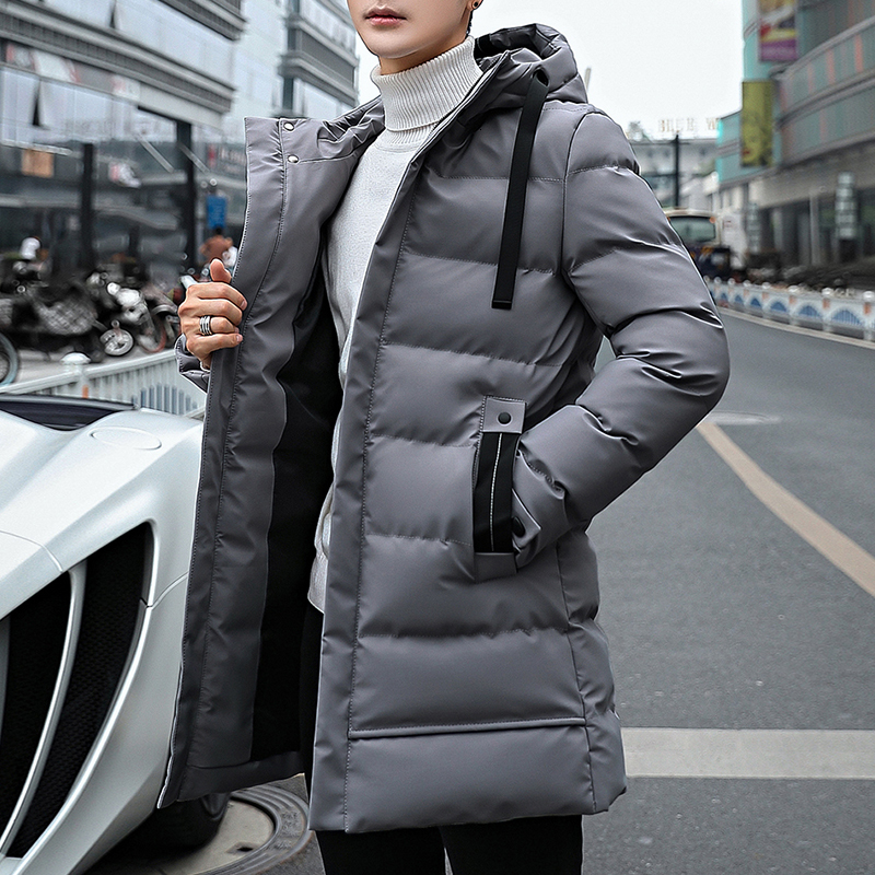 Long Style Parka Men Winter Jacket Coat For Men Hooded Thick Cotton-Padded Jacket Mens Parka Coat Male Fashion Casual Coats 4XL