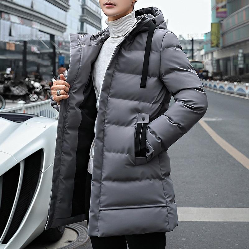 Long Style Parka Men Winter Jacket Coat For Men Hooded Thick Cotton-Padded Jacket Mens Parka Coat Male Fashion Casual Coats 4XL