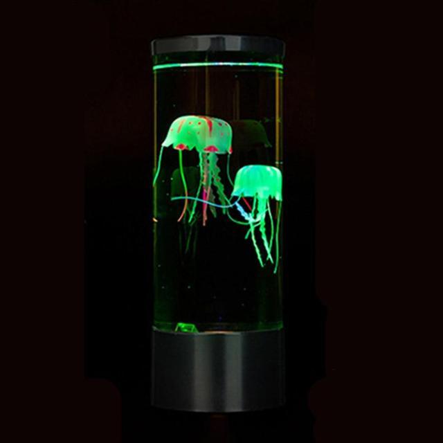 LED Jellyfish Lamp Night Light  & USB Battery  3