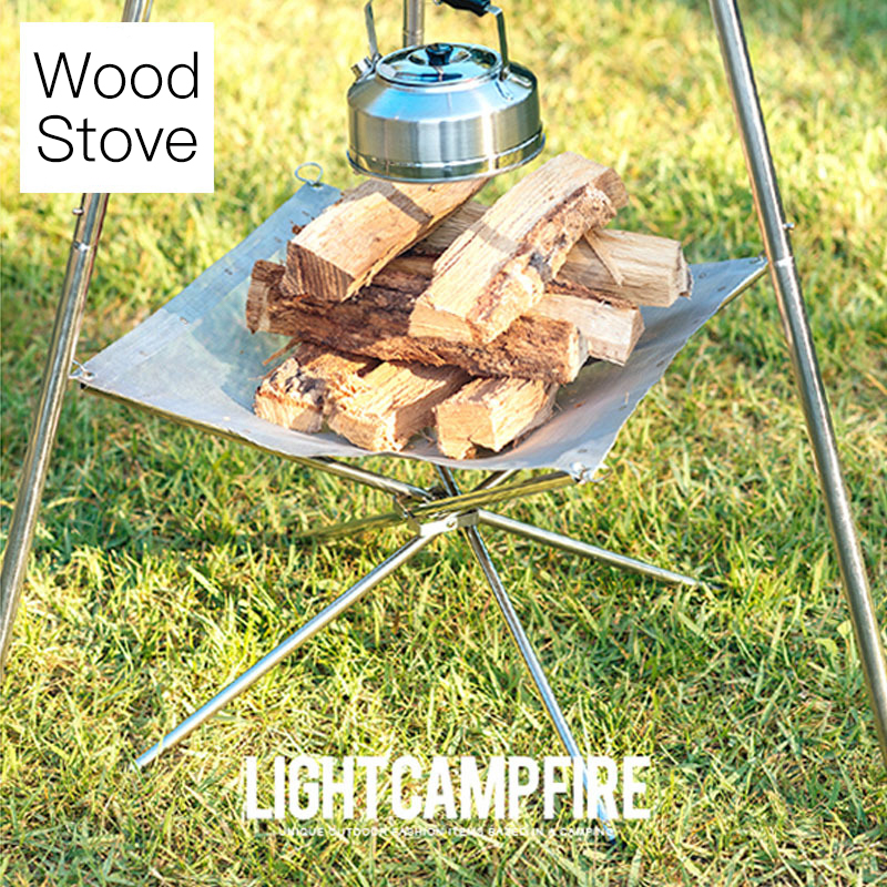 304 Stainless Steel Stove Grill Super Light Portable Outdoor Camping Folding Rack Heating image