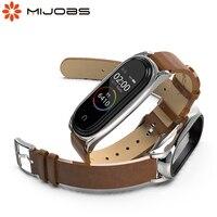 Band Voor Xiaomi Mi Band 6 5 Voor Mi Band 4 Armband Pu Lederen Polsband Voor Mi Band 3 polsbandjes Pulseira Smart Accessoires