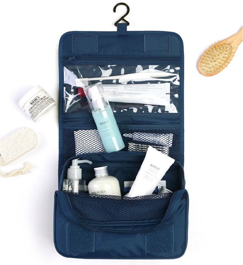 Men Women Portable Travel Bags Cosmetic Storage Make Up Bag Folding Hanging Toiletry Wash Organizer Pouch Cases
