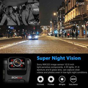 Image 5 - Wideorejestrator samochodowy rejestrator GPS 4K 2160P, wiFi, podwójny obiektyw, Novatek 96663 chip Sony IMX323 czujnik noktowizor, D30H