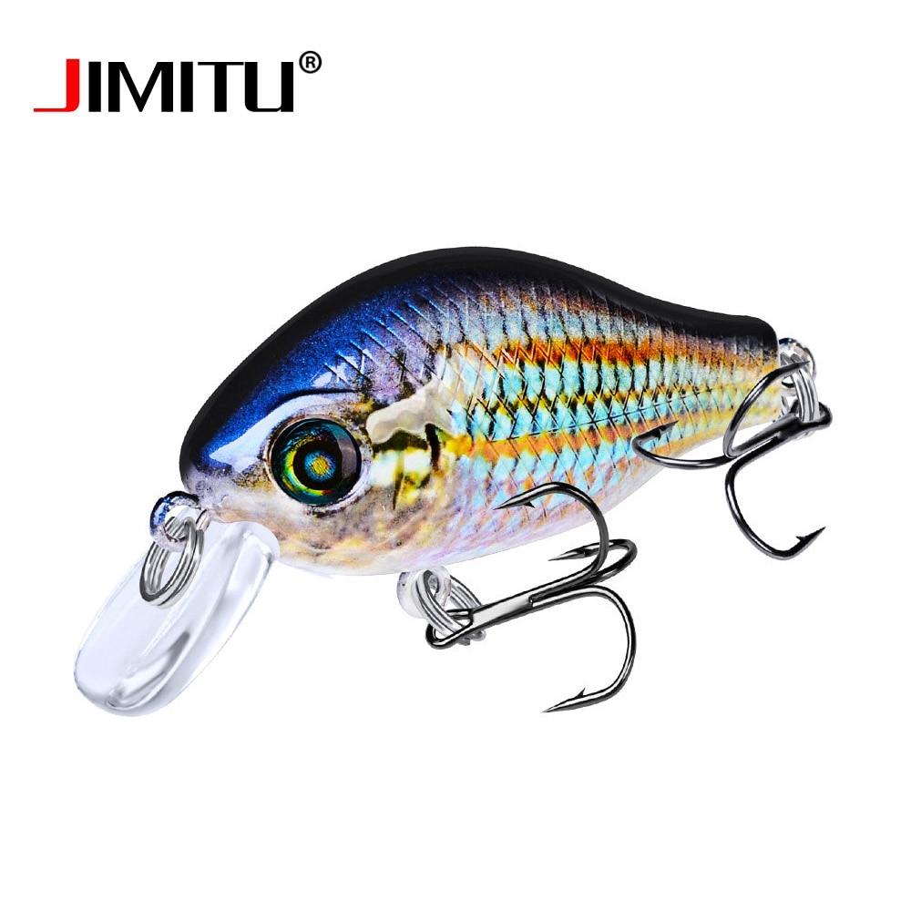 JIMITU 52mm 8.5g Wobbler Cranbait Fishing Lure Top Quality Floating 3D Eyes Hard Bait Artificial Swimbait Balck Minnow Tackle