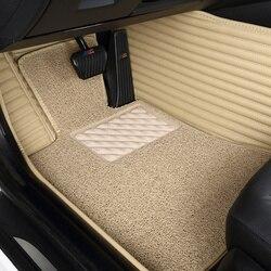 Car carpet Waterproof Leather Floor Mat Car-styling Interior Customized Car Mats Customized