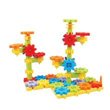 43Pcs Plastic DIY Rotatable Gear Building Blocks Assemble Jigsaw Disassemble Puzzle Kids Intelligence Educational Toys Gift DXAD