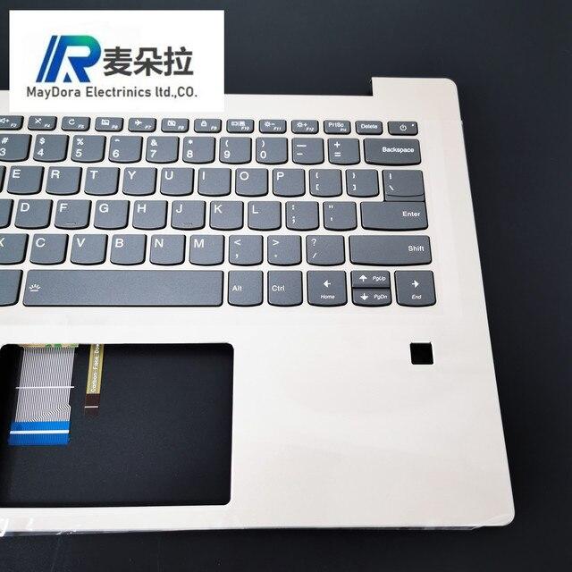 US IND nowy oryginalny dla Lenovo ideapad 520S-14 520S-14IKB 7000-14 montaż podparcia dłoni w/ US podświetlana klawiatura i FP HOLE GOLD