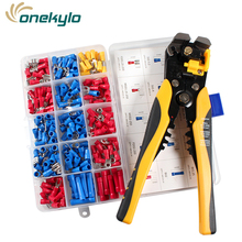 HS-D1+270pcs 4 in 1 Multifunctional automatic wire stripping pliers AWG24-10(0.2-6.0mm2) Crimping Cutting stripper