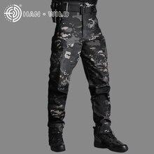 Мужские тактические камуфляжные брюки HAN WILD, плотные флисовые боевые брюки с рипстопом, рабочие армейские штаны для охоты