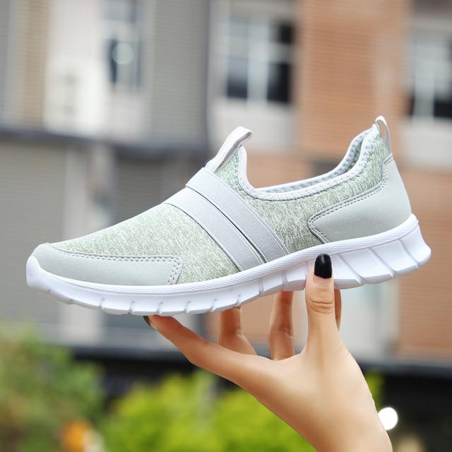 Women Men Lightweight Outdoor Sport Running Shoes Couples Breathable Soft Athletics Jogging Sport Sneaker Shoe