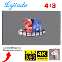 Screen Projection Theater Outdoor 60-30inch Foldable 1080P 3D LEJIADA 72 HD 4:3 100-84