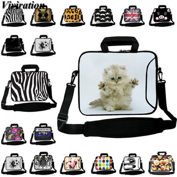 Girls Women Laptop Bag 14 15 13 12 10 17 17.3 Notebook Case 15.6 Cat Prints Capa Para Funda Portail Bolsas Computer Accessories