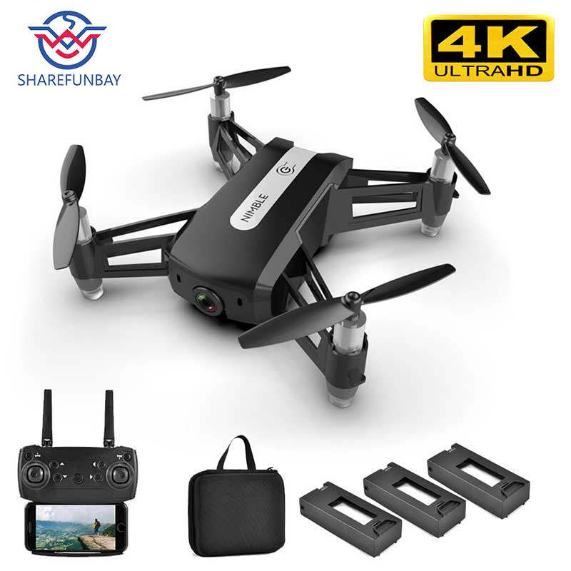 SHAREFUNBAY R11 drone 4k HD wide-angle camera 1080P WIFI FPV drone height hold video recording gesture photo drone with camera title=