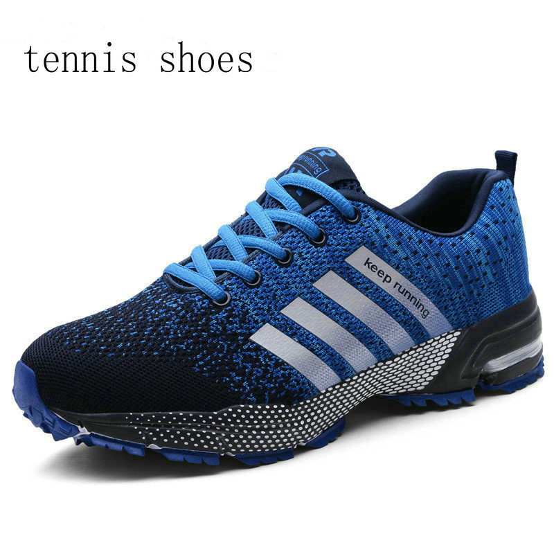 Fashion Men's Shoes Portable Breathable Tennis Shoes 47 Large Size Sneakers Comfortable Walking Jogging Casual Flat Shoe