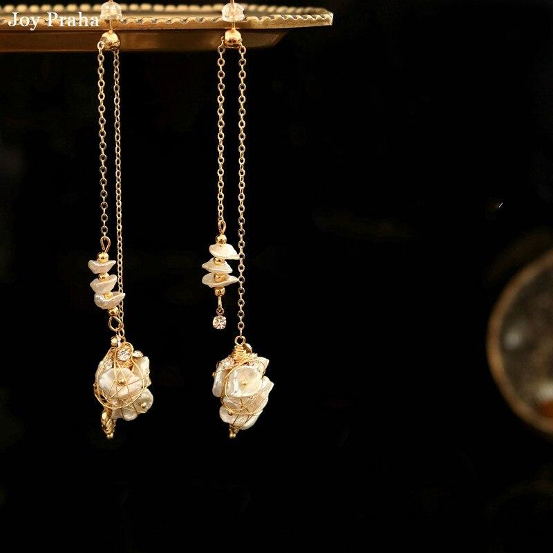 Women Earrings Pearl Long 8cm/temperament New