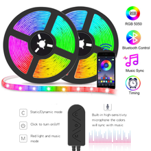 LED Strip Light RGB 5050 With Bluetooth App Controller 6M 12M 30M