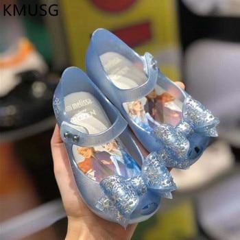 Mini Melissa Girl Jelly Sandals Butterfly Knot Kids Ultragirl 2020 Original Children Beach Shoes Non-slip