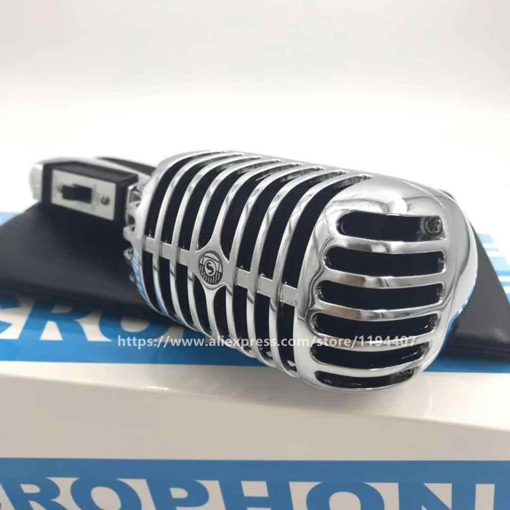 プロメタルクラシックレトロダイナミックマイクヴィンテボーカルマイクため 55SH シリーズ II バー歌 Launchpad DJ カラオケシステム
