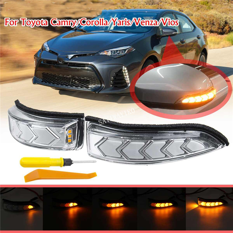 For Toyota Camry XV50 Corolla E170 Altis Vios Yaris Prius Side rearview Mirror dynamic blinker Turn Signal indicator Light