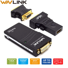 Wavlink USB 2.0 to VGA/DVI/HDMI Video Graphic Adapter Multiple Monitors Display to 1920*1080 Extend/Mirror Mode Supports Windows