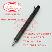 Common Rail Injector EJBR04501D For SSANGYONG Engine Diesel Auto Parts A6640170121 For Actyon 200 Kyron 2.0L Xdi SUV