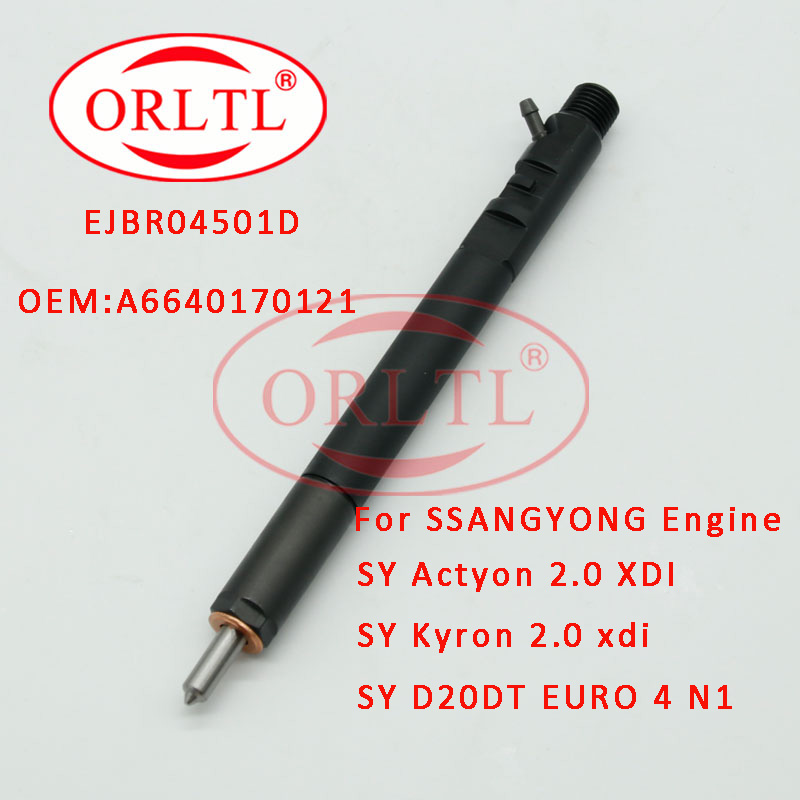 Wspólny wtryskiwacz szynowy EJBR04501D dla SSANGYONG silnik wysokoprężny Auto części A6640170121 dla Actyon 200 Kyron 2.0L Xdi SUV