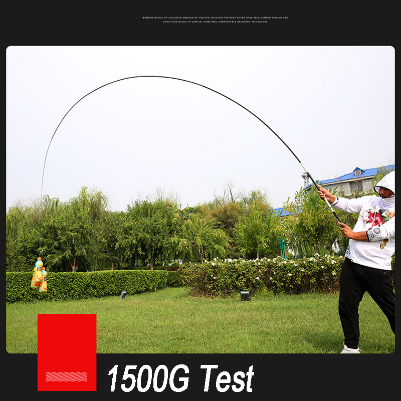 Telescopic Fishing Rod High Quality Carbon Fiber Power Hand Pole 2.7M-10M Water