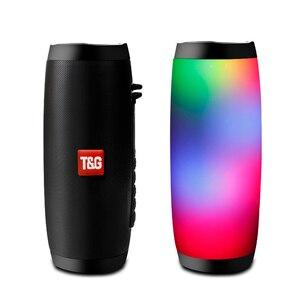 Беспроводной Bluetooth динамик светодиодный портативный Boom Box Открытый Колонка для басов Subwoffer звуковой ящик с микрофоном Поддержка TF FM USB