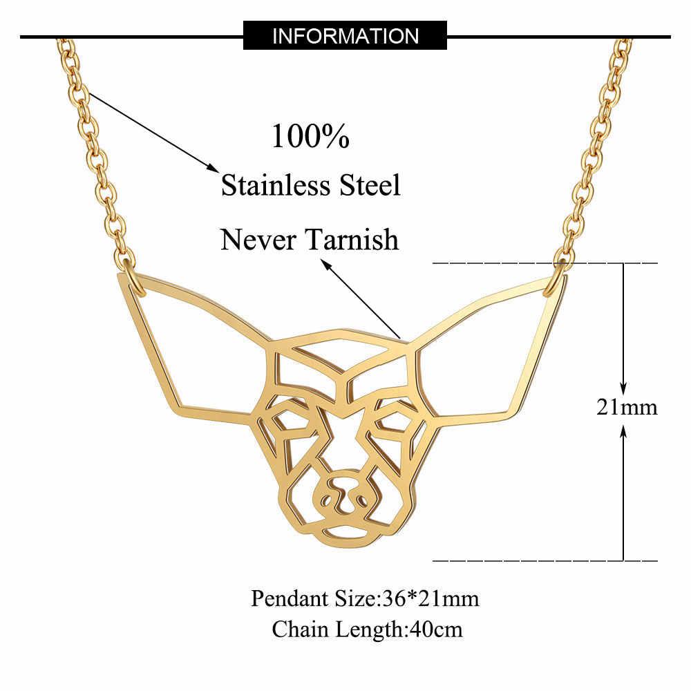 100% ze stali nierdzewnej zwierzę Chihuahua moda naszyjnik dla kobiet osobowości biżuteria hurtowych specjalny prezent