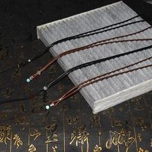 Hurtownie S925 lub aluminiowe okucia koreański woskowany pleciony męski i damski sznur naszyjnika smycz wisiorek smycz na telefon komórkowy tanie tanio CN (pochodzenie) 1 7g Sznury 35cm Weaving 0 4cm 70cm linki do biżuterii Akrylowe 0 2cm