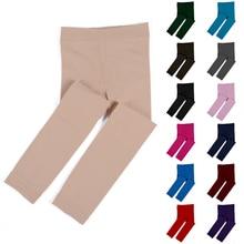 Leggings Girls Winter Thick Cotton Pants Fur Elastic-Waist Warm Colorful Kids Children