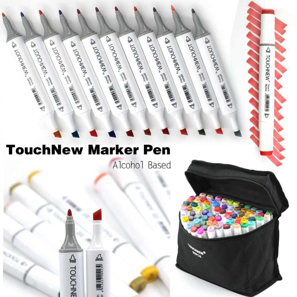 Sanat çizim işaretleyici kalem, TOUCHNEW 40 60 80 168 renkler alkol grafik sanat kroki e n e n e n e n e n e n e n e n e n e işaretleyici kalem s hediye sketchbook boyama