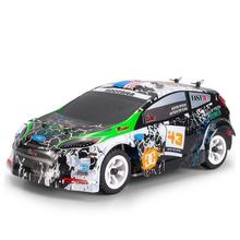 Wltoys K989 1/28 2.4G 4WD Brushed RC Remote Control Rally Car RTR with Transmitter  RC Drift Car Alloy Remote Control Car недорого