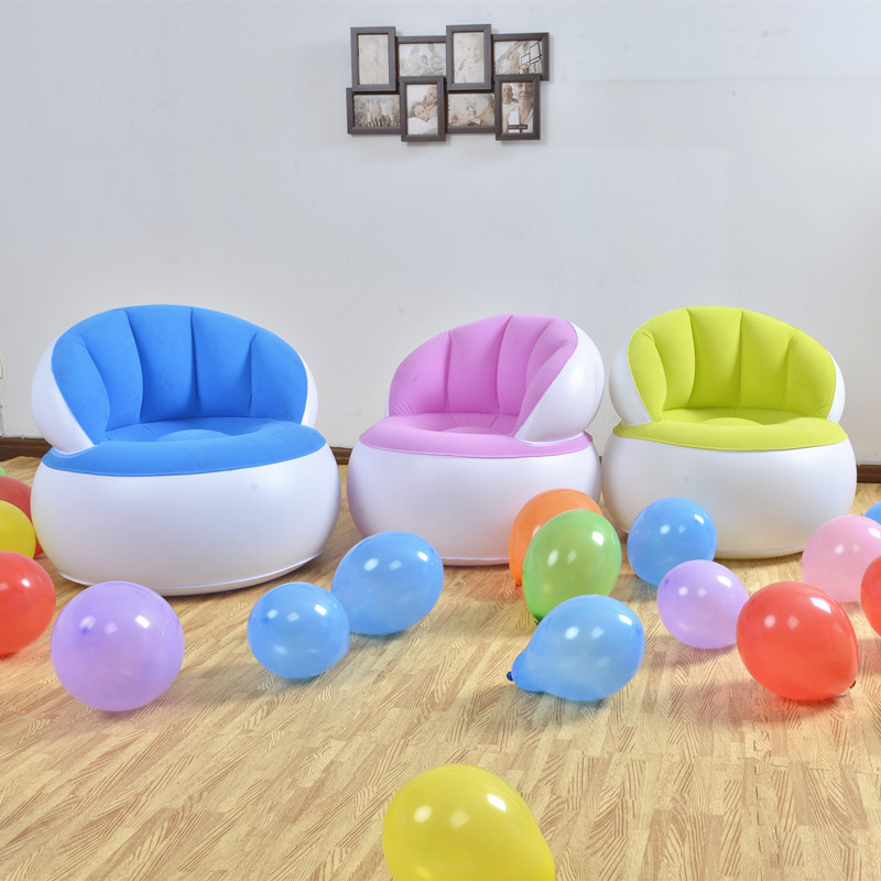 Children's Inflatable Flocking Sofa, Parent-child Interactive Toy Foldable Chair, Children's Leisure Chair, Stool