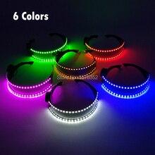 6 Lighting Select Flashing LED Glasses Glowing Sunglasses Dance illuminated Eyewear Luminous LED Glasses DJ Dance Supplies костюм dance supplies