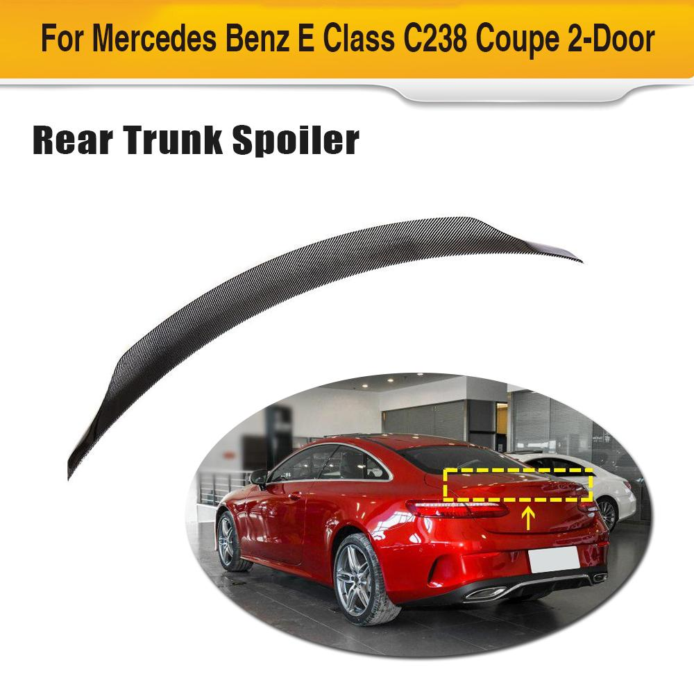 Car Rear Trunk Wing Spoiler For Mercedes-Benz E Class W213 E250 E300 E400 E450 E500 E550 Coupe 2017 - 2019 Rear Spoiler Sticker