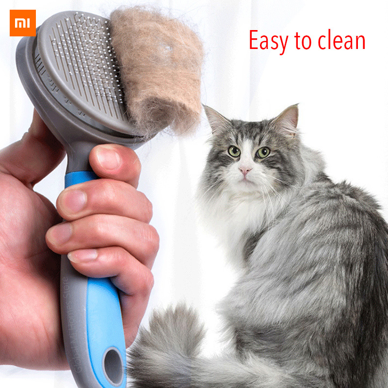Xiaomi Mijia Innovate Pet Cat Hair Removal Brush CombPet Grooming Tools Hair Shedding Trimmer Comb For Cats