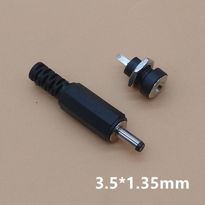 10 шт. = 5 пар разъемов питания постоянного тока 1,3x3,5 мм, гнездовой разъем + Штекерный гнездовой адаптер, 3,5*1,3 мм