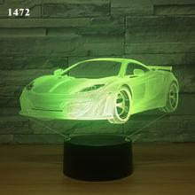 3d иллюзия Лампа для спортивного автомобиля ночной Светильник