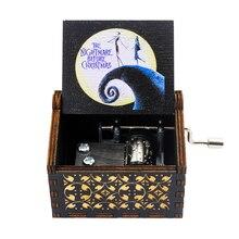 Music-Box Hand-Crank Wooden Sunshine-Theme Birthday-Present Christmas-Gift Halloween