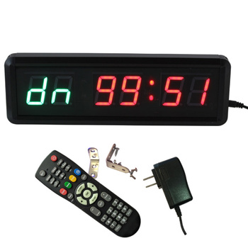 Gym Timer 1.5 inch High Character Interval Clock for Workouts Size 11X3.5X1.4Inch W/Remote Indoor ONLY US Standard Plug