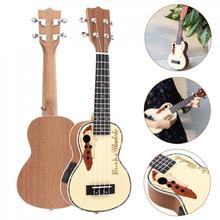 Ukulele 21 Inch Spruce EQ Soprano Ukelele 15 Fret Electroacoustic 4 Strings Guitar with Built-in EQ Pickup  Hot sale bimuduiyu new arrival fashion handmade super warm autumnwinter men shoes casual british style ankle boots wipe color snow boots