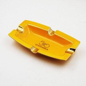 Portable Cigar Ashtray Home Ceramic Ashtray Luxury Tobacco 4 Rest Holder Cigar Ashtray