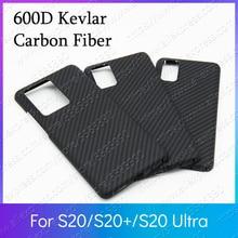 600D Kevlarจริงคาร์บอนไฟเบอร์Ultra Light Body FundaสำหรับSamsung S20 UltraกรณีS20 + S20 Plus 5Gกันชน