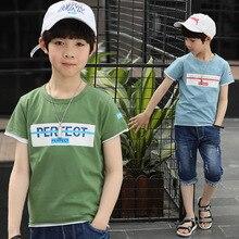 Summer Kids Boys T Shirt Letter Print Short Sleeve Cotton T Shirt Boys Children T-shirt O-neck Tee Tops Boy Clothing все цены