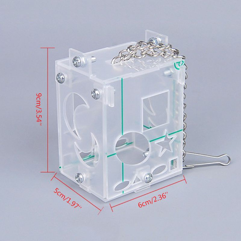 Parrot Creative Foraging Toy Feeder Bird Intelligence Training Cage Acrylic Box