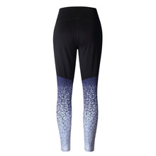 Women Sports Workout High Waist Running Pants Fitness Elastic Leggings Printing Patchwork Trousers 2019 9.3