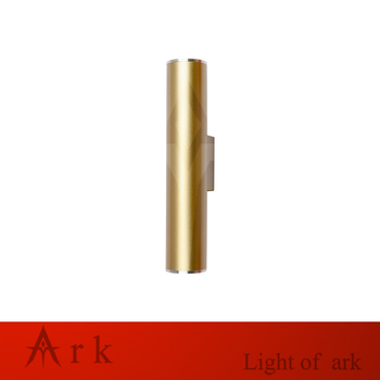 Modern Northern Art champaign gold LED minimalist wall lamp Hostel Bed Night Reading Tubing Rocker Corridor Light Fabric Sconce